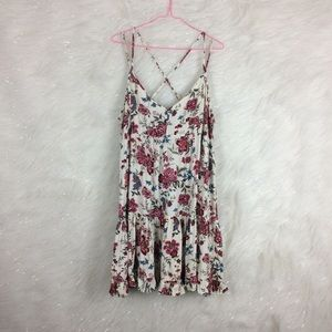 American Eagle | floral tiered babydoll dress